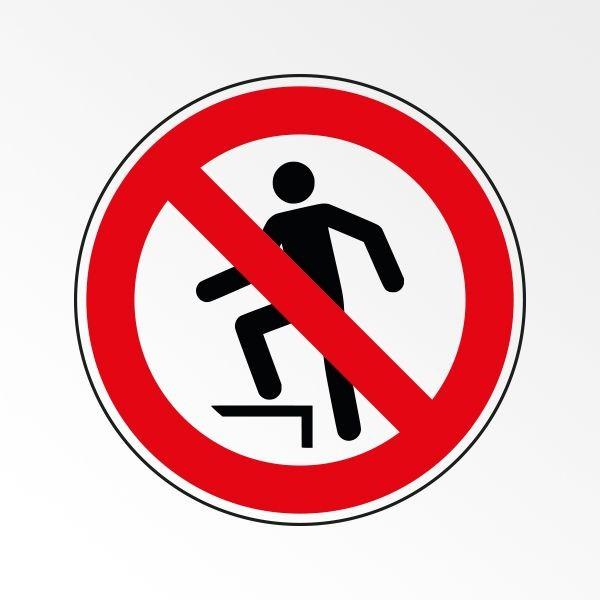 """Rouleau de Pictogrammes d'Interdiction ISO 7010 """"Ne pas marcher sur la surface"""" P019"""