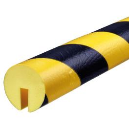 Profil butoir flexible jaune et noir 1 m - modèle B+