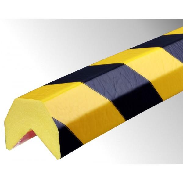 Profil butoir flexible jaune et noir 1 m - modèle AA