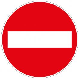 panneau rond sens interdit