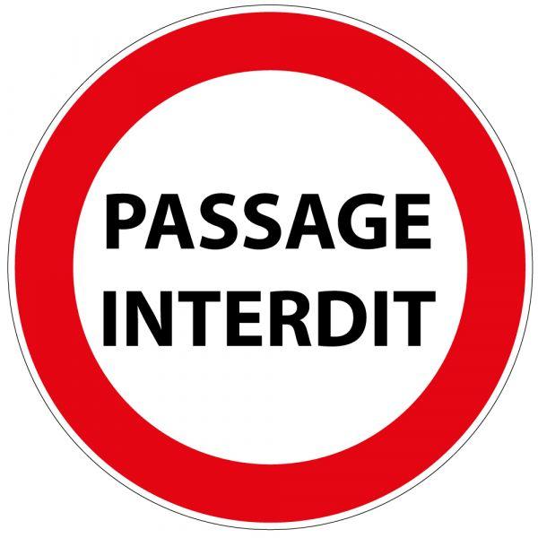 Panneau de Prescription B19 Plat en Aludibond : Passage Interdit