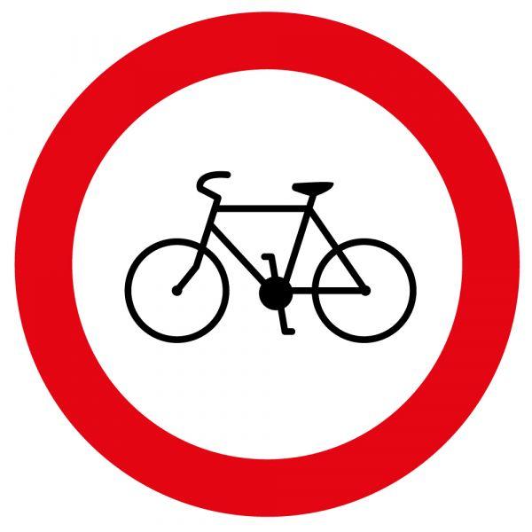 Panneau de Prescription B9b Plat : Accès Interdit aux Cycles