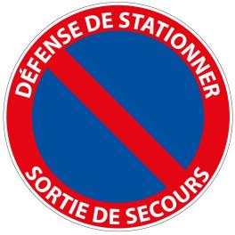 Panneau de circulation Plat Aludibond - Sortie de secours