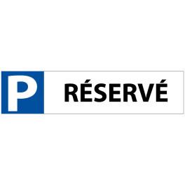 """Plaque en PVC """"P RÉSERVÉ"""" pour Butée de Parking"""