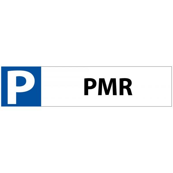 """Plaque en PVC """"P PMR"""" pour Butée de Parking"""