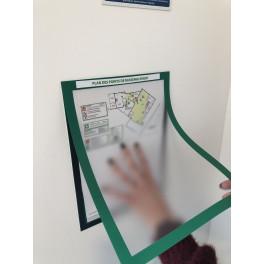 Kit porte document magnétique pour affichage obligatoire des points de rassemblement
