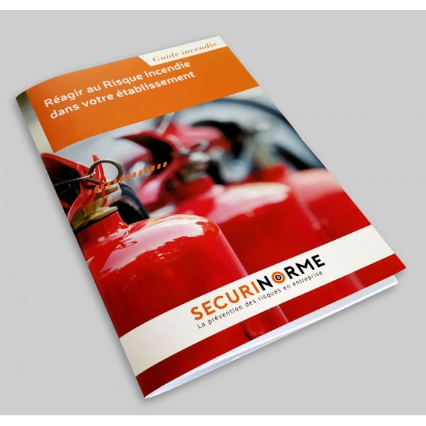 """Guide incendie """"Réagir au risque incendie dans votre établissement"""""""