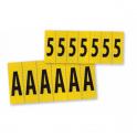 Lettres en tissu plastifié 14 x 19 mm - Lettre A
