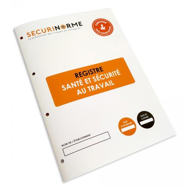Registre de santé et de sécurité au travail
