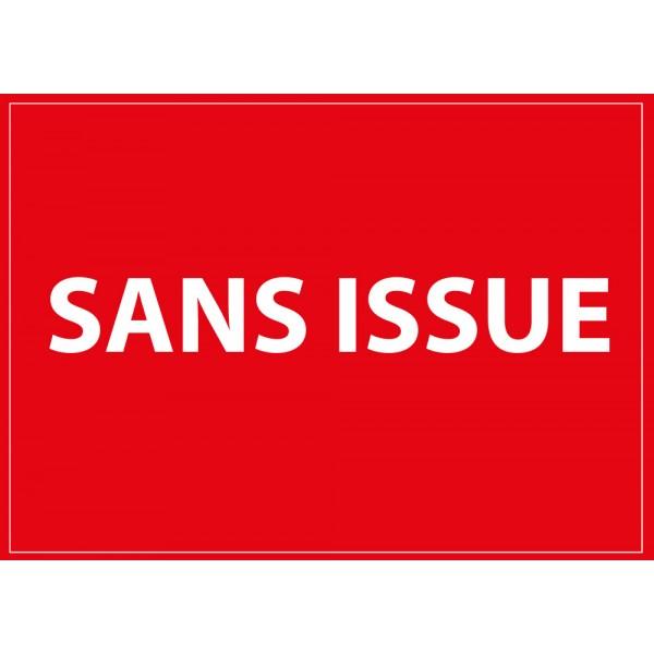 "Signalisation ""Sans issue"" Dimensions:210 x 150 mm ou 420 x 300 mm"