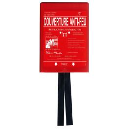 Couverture anti-feu avec conteneur rigide 1,20 x 1,20 m