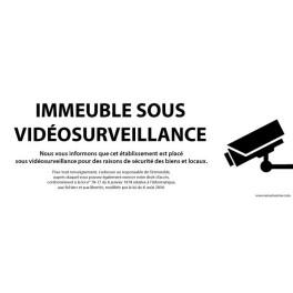 """Panneau """"Immeuble sous vidéosurveillance"""""""