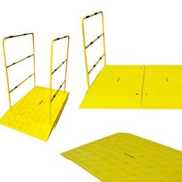Rampe pour chantier haute résistance avec ou sans main courante