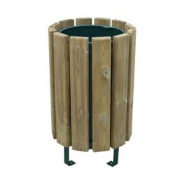 """Corbeille / poubelle de jardin """"ECO"""" bois autoclave 80 litres"""