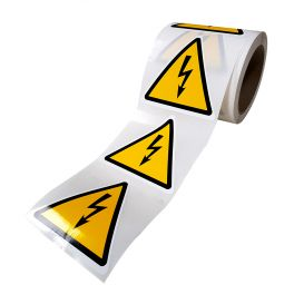 Rouleau de Pictogrammes de Danger ISO EN 7010 - Electricité - W012
