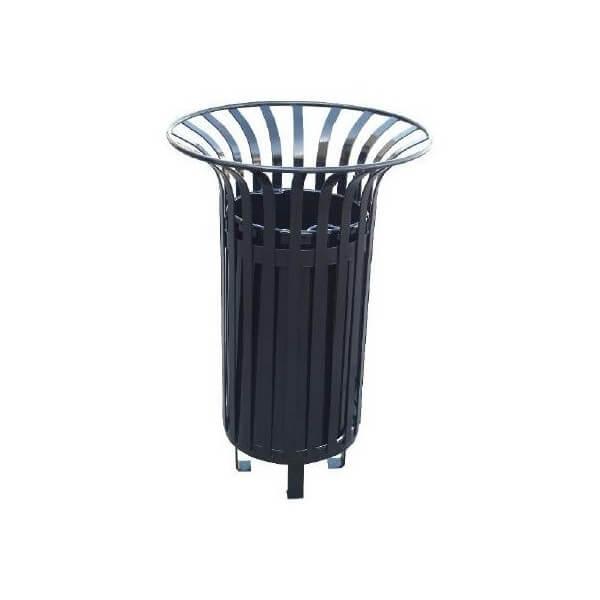 Corbeille / poubelle de parc Tulipe 65 litres