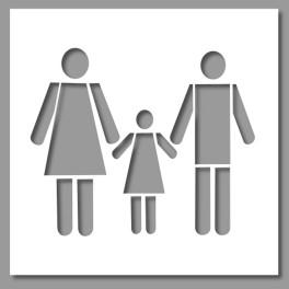 Pochoir PVC Famille - 500 x 600 mm