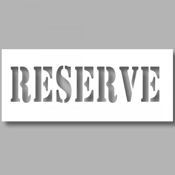 "Pochoir texte PVC - ""Réservé"" - 150 x 600 mm"