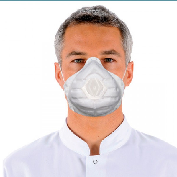 Masque de protection anti-poussières FFP3 pliables à valve - par 20