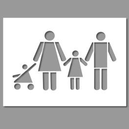 Pochoir PVC Famille - 700 x 1200 mm
