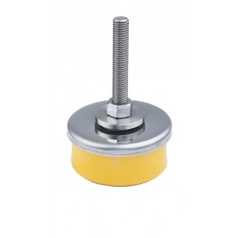 Pied anti-vibration en inox pas de vis 65 mm