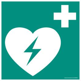 Panneau DAE ISO EN 7010 - Défibrillateur automatique expert pour le coeur - E010