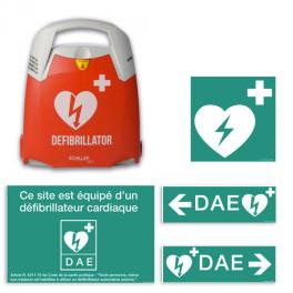 Pack Essentiel DAE : Défibrillateur Schiller Fred PA-1 + Signalétique DAE