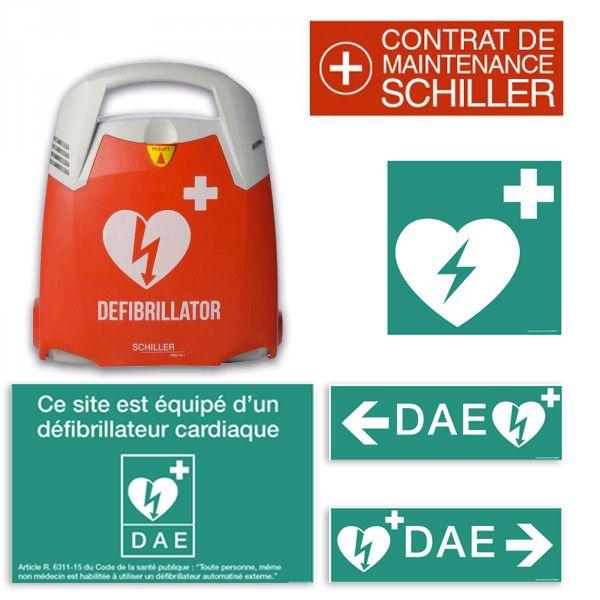 Pack DAE Schiller Fred PA-1 Automatique+ Signalétique + contrat de maintenance