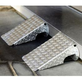 Petite rampe d'accès trottoir acier galvanisé