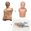 Pack 3 mannequins ECO (Uniman + - Sani child + Ambu Baby)