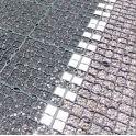 """Marqueur blanc pour plaque de stabilisation """"Gazon"""" pour parking public"""