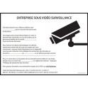 Affiche obligatoire - Site sous vidéosurveillance - A4 - Rouge - Dématérialisé PDF