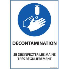 """Panneau """"Se désinfecter les mains très régulièrement"""" - Dématérialisé PDF"""