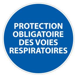 Panneau d'obligation de port d'EPI - Protection obligatoire des voies respiratoires