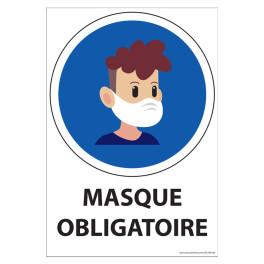 Panneau Port du masque obligatoire Young