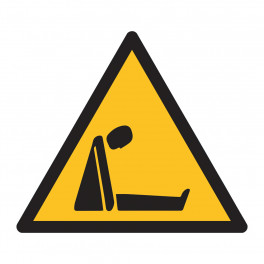 "Panneau triangle ""Risque d'asphyxie"" ISO 7010 - W041"