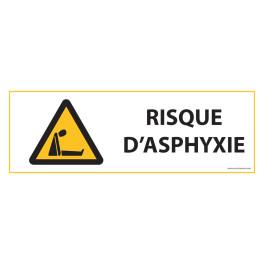 """Panneau d'obligation """"Risque d'asphyxie """" ISO 7010 - W041"""