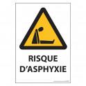 """Panneau d'obligation 'Risque d'asphyxie"""" - ISO 7010 - W041"""