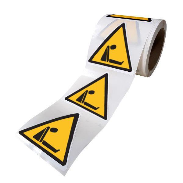 """Rouleau Mini Pictogramme d'avertissement 'Risque d'asphyxie"""" - ISO 7010 - W041"""