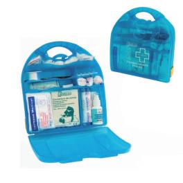 Coffret de secours multi activités polypro bleu 8 à 20 personnes