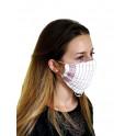 Lot de 50 masques en tissu lavables et réutilisables type chirurgical