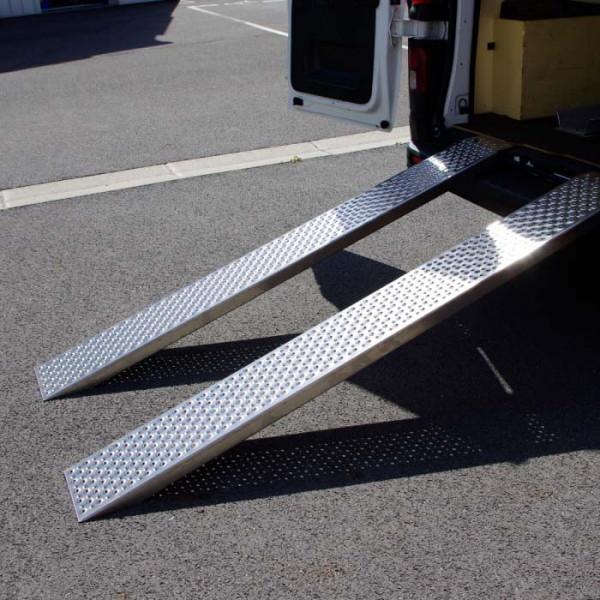 Paire de rampes de chargement aluminium