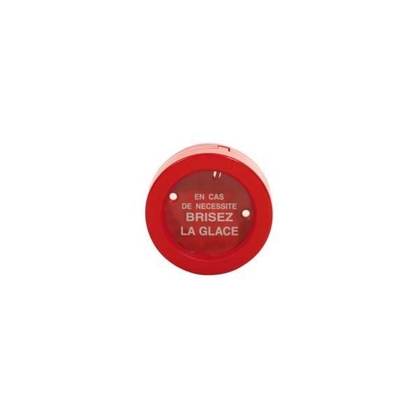 Vitre de remplacement pour boîte à clés de format rond ø100 mm