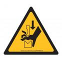 Panneaux et autocollants NF EN 7010 - Écrasement de la main dans une presse plieuse - W030