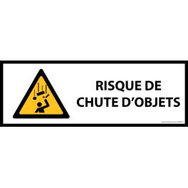 Panneau de danger ISO EN 7010 - Chute d'objets - W035 - Vinyle - 297 x 105 mm