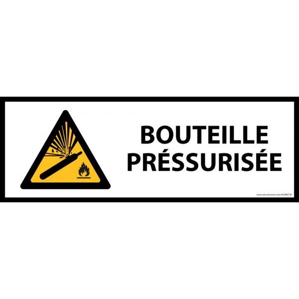 Panneau de danger ISO EN 7010 - Bouteille préssurisée - W029