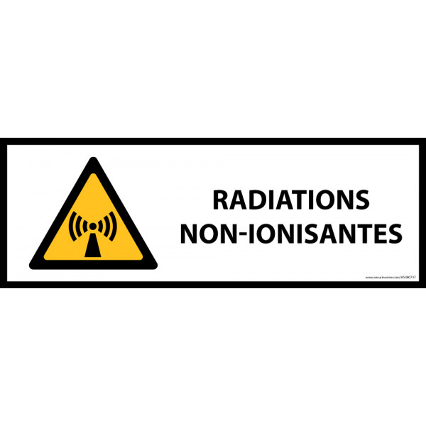 Panneau de danger ISO EN 7010 - Radiations non-ionisantes - W005
