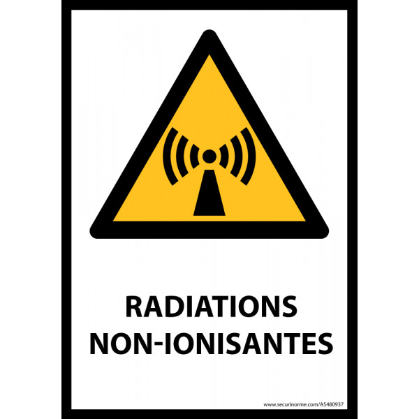 Panneau ISO EN 7010 - Radiations non-ionisantes - W005
