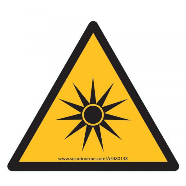 Panneaux et autocollants NF EN 7010 - Rayonnement optique - W027