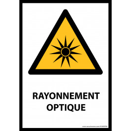 Panneau ISO EN 7010 - Rayonnement optique - W027